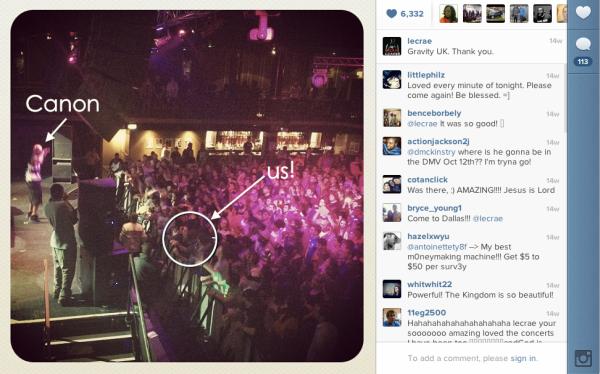 That one time Lecrae put a picture of us on Instagram.